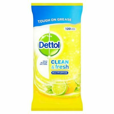 Dettol Power & Fresh Citrus Wipes 120 per pack