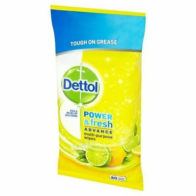Dettol Power & Fresh Citrus Zest 80 per pack
