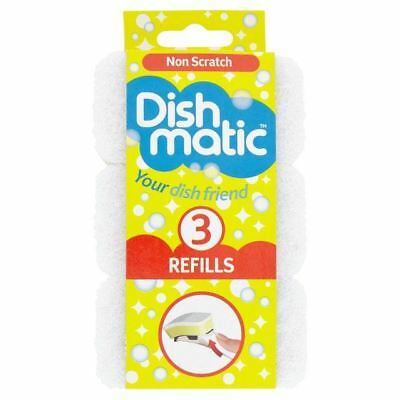 Dishmatic Non Scratch Refills 3 per pack