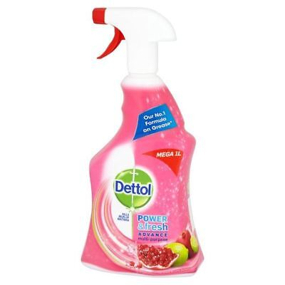 Dettol Power & Fresh Advance Antibacterial Spray Pomegranate 1L