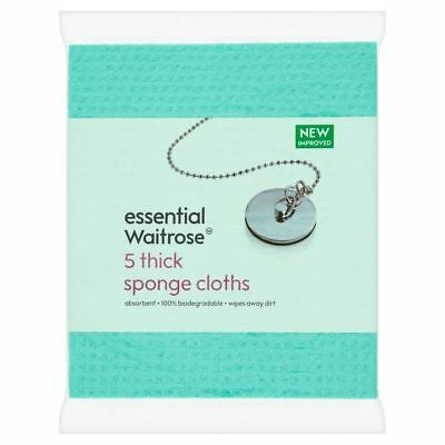 Essential Waitrose Sponge Cloths 5 per pack