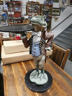 Vintage Frog Butler- 33 Inches Tall