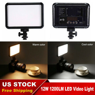 Photo Studio Video Light Lamp 12W LED Photograpgy Lighting for Camera Camcorder