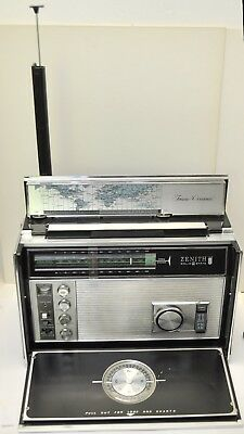 Vintage 1960's Zenith Royal D-7000Y Trans Oceanic 11-Band Radio Works
