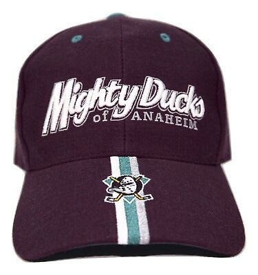 Anaheim Mighty Ducks Twins Enterprise NHL Team Coordinator Hockey Logo Cap  Hat dcd99ba60