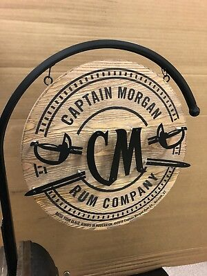 Captain Morgan Rare wood hanging wall sign Rare and New