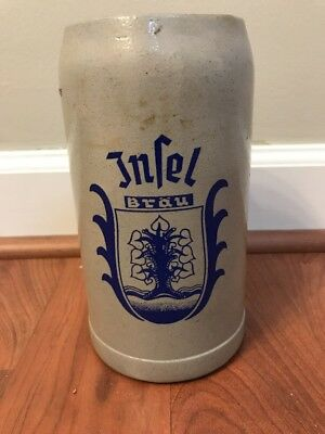 Rare Vintage Infel Brau Salt Glazed Clay Beer Mug