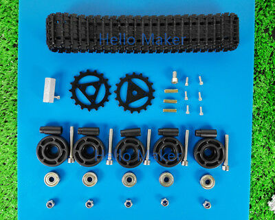 New Track Drive Kit Wheel For Tank Car Tracked Vehicle DIY Arduino