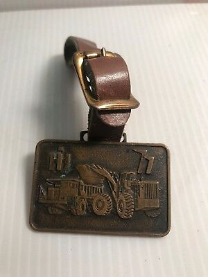 Vintage IH International Harvester key Fob Industrial Equipment w/Leather 77