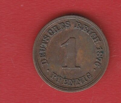 Germany 1 Pennig 1876 E