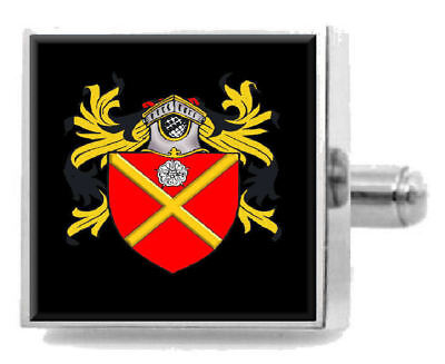 Select Gifts Nettleton England Family Crest Surname Coat Of Arms Cufflinks Personalised Case