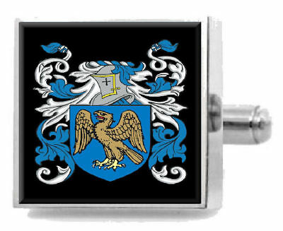 Select Gifts Winship England Family Crest Surname Coat Of Arms Cufflinks Personalised Case