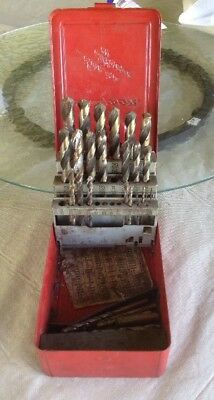 SNAP ON TOOL Drill Bit Box with A Mixed Lot Of Drill Bits DBC229  Cobalt