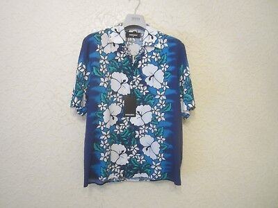 e5bfd6fb 🌟🌟🌟FABULOUS DSQUARED2 NOVELTY Print Hawaiian Island Shirt, Size ...