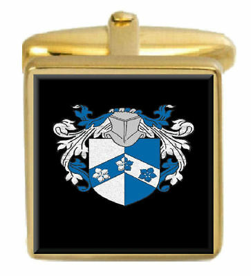 Select Gifts Macneil Scotland Family Crest Surname Coat Of Arms Gold Cufflinks Engraved Box