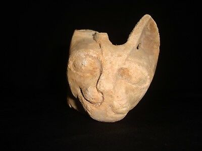 RARE ANTIQUE ANCIENT EGYPTIAN Head of Cat Goddess Bast Bastet 2800-2750 BC