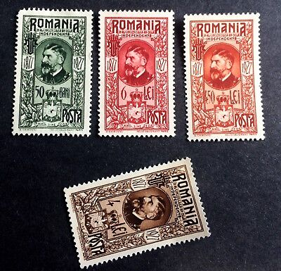 3 wonderful old stamps Romania 1927 King Ferdinand I.
