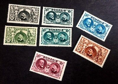 4 wonderful old stamps Romania 1927