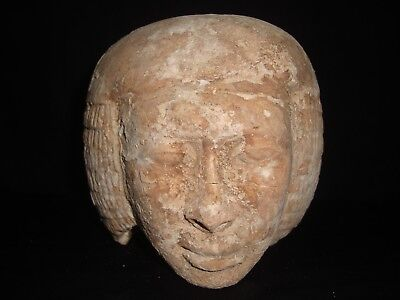 Rare Antique Ancient Egyptian Statue Head Limestone of Queen Tiya 1390 – 1353 BC