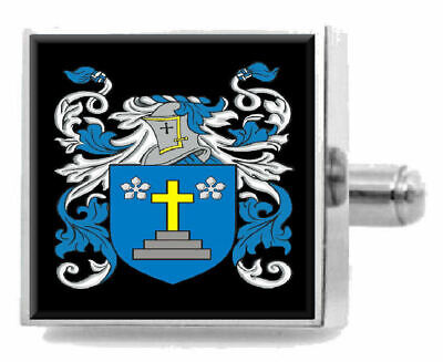 Select Gifts Mackellar England Family Crest Surname Coat Of Arms Gold Cufflinks Engraved Box