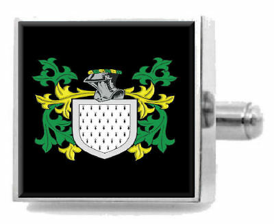 Select Gifts Gowans Scotland Family Crest Surname Coat Of Arms Cufflinks Personalised Case
