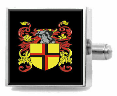 Select Gifts Daly Ireland Family Crest Surname Coat Of Arms Gold Cufflinks Engraved Box