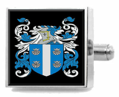 Select Gifts Delaney Ireland Family Crest Surname Coat Of Arms Cufflinks Personalised Case