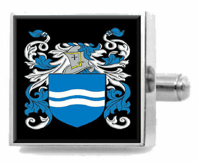 Select Gifts Denison England Family Crest Surname Coat Of Arms Cufflinks Personalised Case