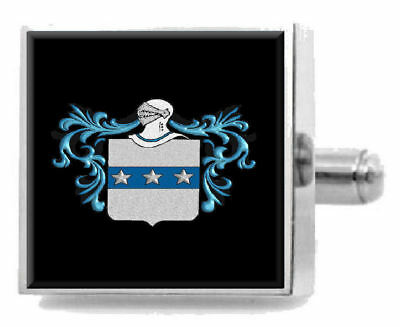 Select Gifts Smee England Family Crest Surname Coat Of Arms Gold Cufflinks Engraved Box
