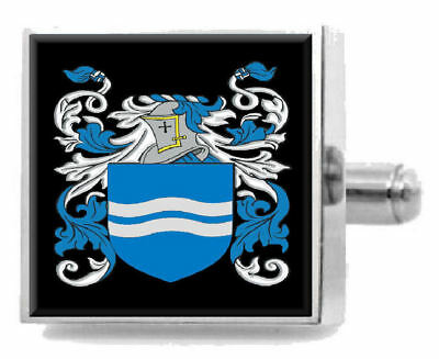 Select Gifts Macdonagh Ireland Heraldry Crest Sterling Silver Cufflinks Engraved Box