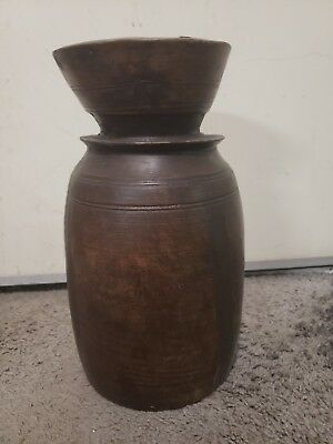 Antique Carved Wooden Vessel/Vase