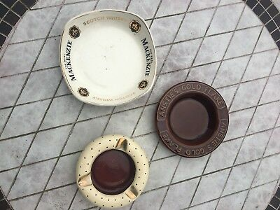 A Group Of Three Vintage Ash Trays