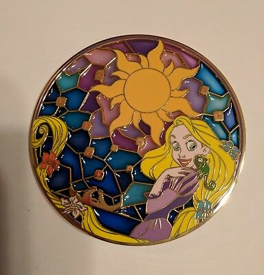 Fantasy Disney Pin Rapunzel and Pascal Stained Glass Tangled