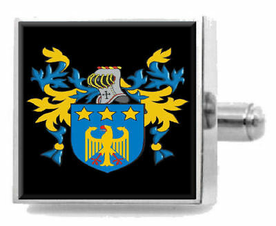 Select Gifts Macbeth Scotland Family Crest Surname Coat Of Arms Gold Cufflinks Engraved Box