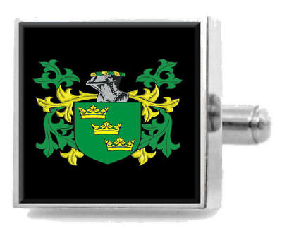 Select Gifts Willes Scotland Family Crest Surname Coat Of Arms Cufflinks Personalised Case
