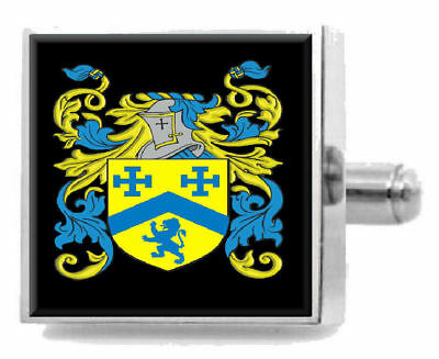 Select Gifts Norvel Scotland Family Crest Surname Coat Of Arms Gold Cufflinks Engraved Box