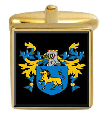 Select Gifts Payne England Family Crest Surname Coat Of Arms Gold Cufflinks Engraved Box