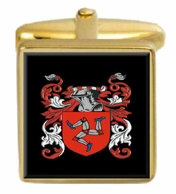 Select Gifts Dewey England Family Crest Surname Coat Of Arms Cufflinks Personalised Case