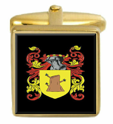 Select Gifts Higgins Ireland Family Crest Surname Coat Of Arms Cufflinks Personalised Case