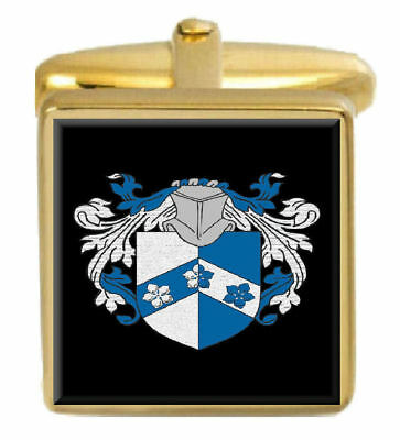Select Gifts Ferrier Ireland Family Crest Surname Coat Of Arms Gold Cufflinks Engraved Box