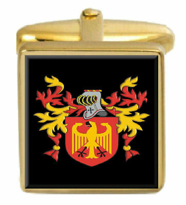 Select Gifts Bodell England Family Crest Surname Coat Of Arms Cufflinks Personalised Case