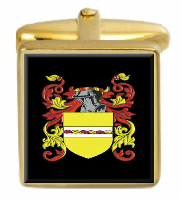Select Gifts Maccorquodell Scotland Family Crest Coat Of Arms Gold Cufflinks Engraved Box