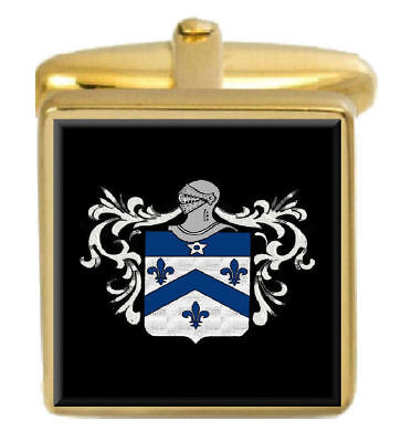 Select Gifts Elidur Wales Family Crest Surname Coat Of Arms Cufflinks Personalised Case