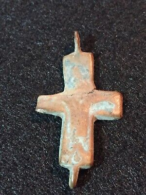 Byzantine Cross Pendant, Bronze Cross