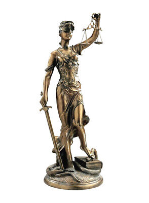 "Ancient Legendary Greek Goddess of Blind Justice With Scales Large 36.5"" Statue"