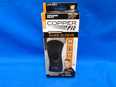 As Seen On TV Copper Fit Knee Compression Sleeve Large (17-19)