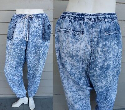 VTG 90s PARACHUTE pants cotton FROSTED OVERSIZED SLOUCHY 1XL 2XL ACID WASHED XXL