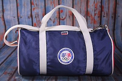 Vintage Levis Strauss Olympics 1984 USA Duffel Bag Small Gym Tote Red Blue