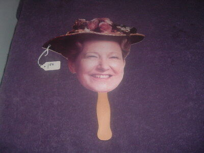 Vintage Minnie Pearl Cardboard Fan With Wooden Handle Autographed....nr