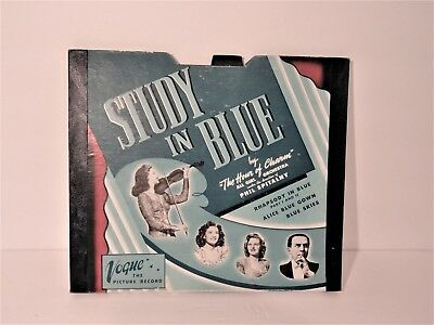 """Vogue Picture Record Set """"Study in Blue"""" R-725 & R-726"""